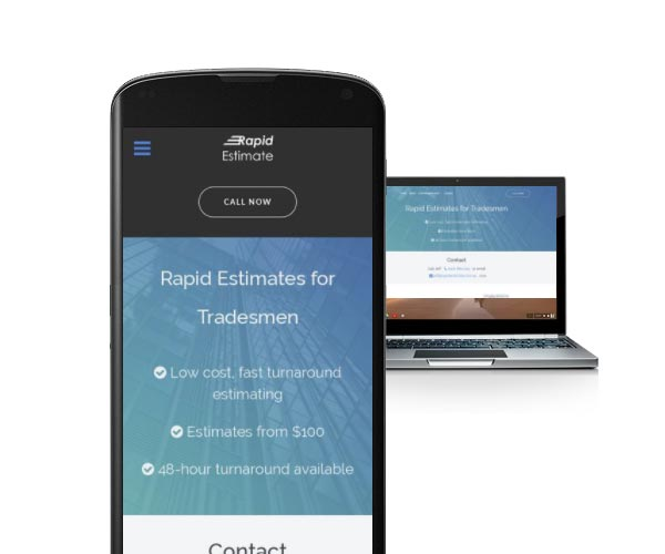 A new, mobile-friendly website design for a local quantity surveying business.